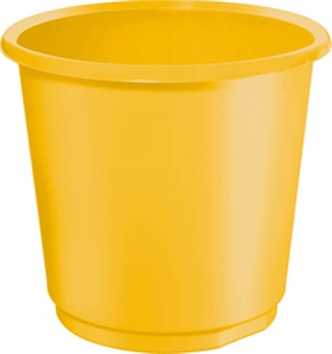 yellow wastebasket yellow wastebasket coloured waste baskets 18 litres pack of 4