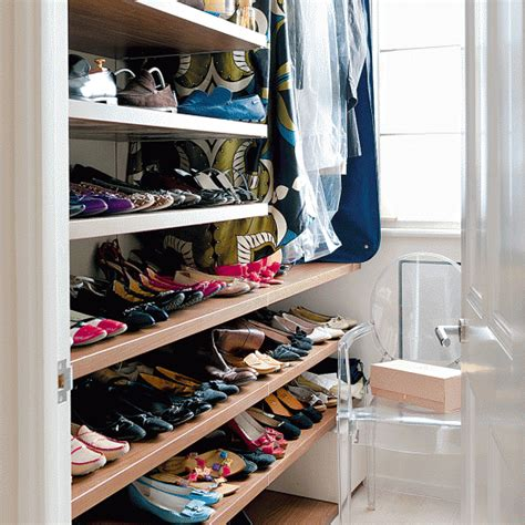 dressing room with shoe storage storage idea