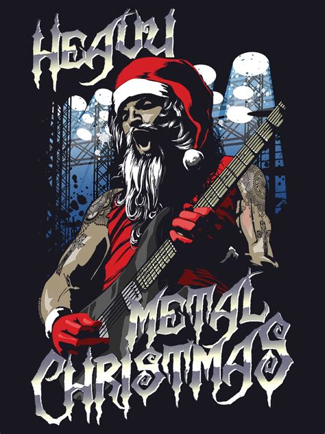 heavy metal christmas men s navy christmas jumper buy