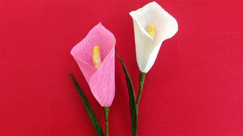 How To Make Paper Lilies - how to make calla crepe paper flowers flower