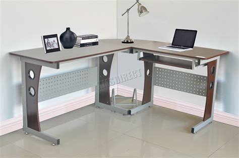 dark walnut computer desk westwood l shaped corner computer desk home office