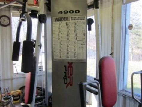 weider pro 4900 exercising machine