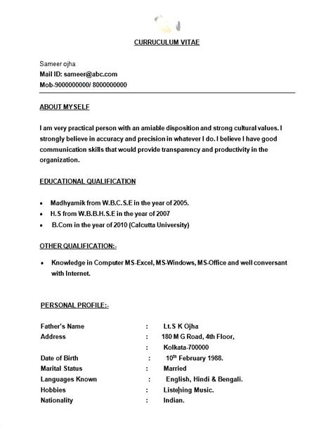 resume format for bpo bpo call centre resume template format free sles exles format resume curruculum