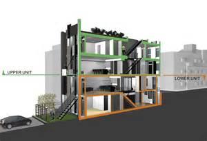 Long Skinny House Plans For Philadelphia S Leed Platinum Urban Infill Project