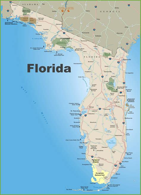 map of fla florida road map