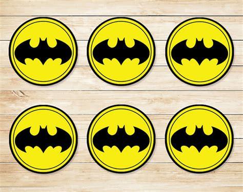 printable batman logo stickers batman sticker batman cupcake topper batman party favors