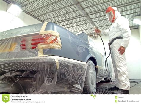 spray paint car car mechanic and paint spray stock image image 1883907