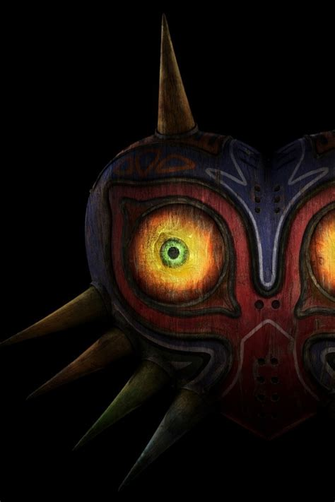wallpaper iphone 6 zelda 640x960 the legend of zelda mask iphone 4 wallpaper