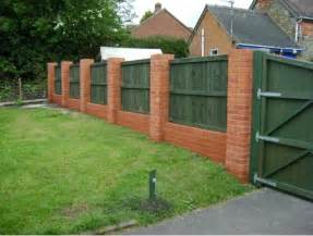 brick fence pictures and ideas