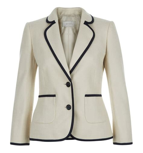 02 Samara Navy Dress hobbs samara jacket in white lyst