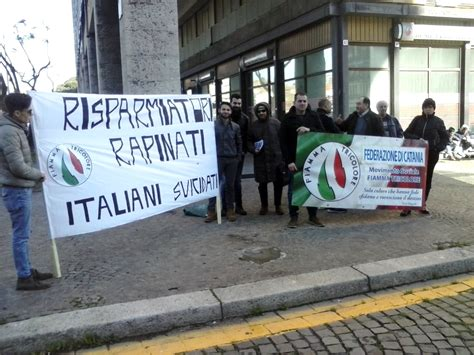 banche a catania catania sit in movimento sociale fiamma tricolore