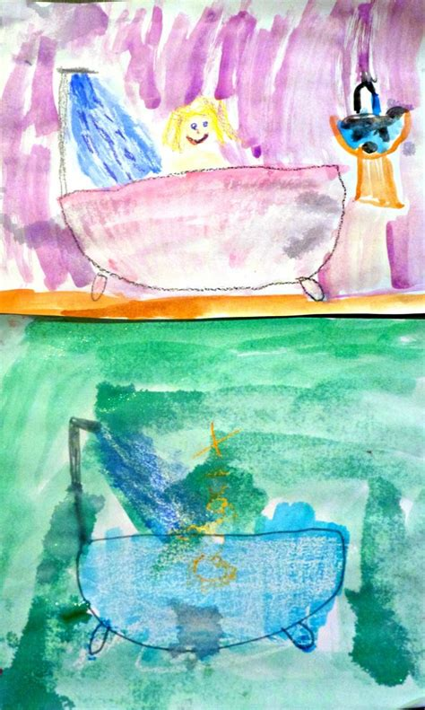bathtub paintings personal health preschool more excellent me