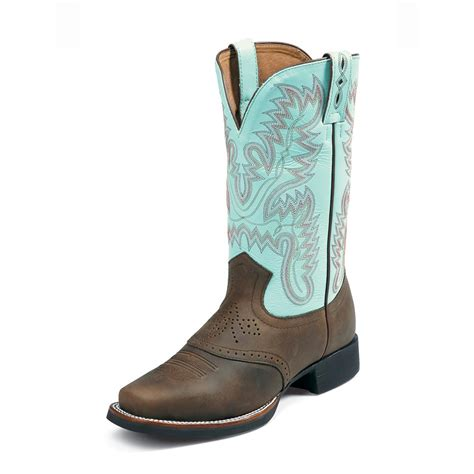 justin cowboy boots for s 11 quot justin 174 aqha foundation series western boots