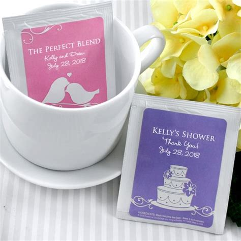 wedding favor tea bags personalized silhouette collection tea bag favors
