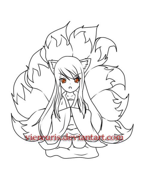 chibi fox coloring page chibi fox by viereuris on deviantart