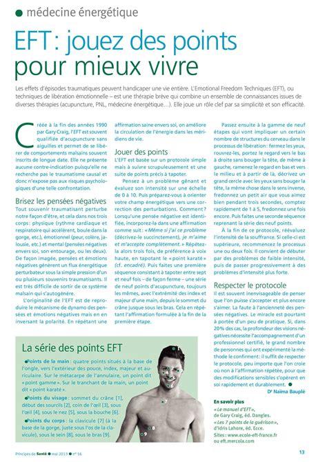 Sante Magazine Juillet 2012 Antistress Eft Techniques De Libert 233 233 Motionnelle eft dans principes de sant 233 mai 2013