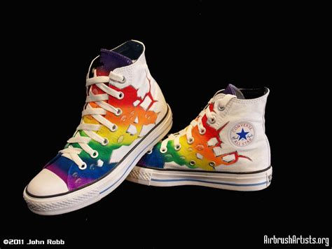 rainbow shoes rainbow shoes airbrushartists org
