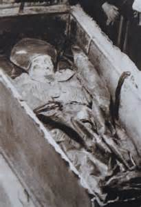Exhumed body years before when this photograph was taken during