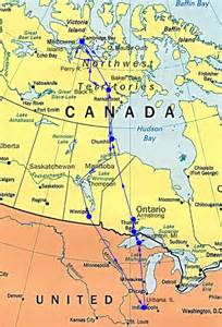 map of canada hudson bay with rocks bugs bogs bears belugas a bay a
