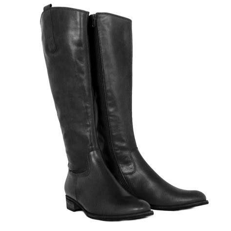 gabor boots brook knee high black leather boots