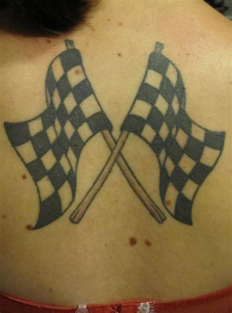 checkered flag tattoo checkered racing flags tattooimages biz