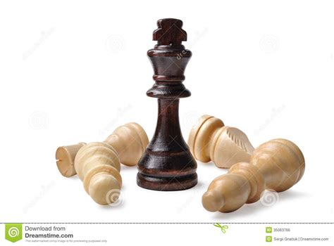 wooden chess pieces royalty  stock image