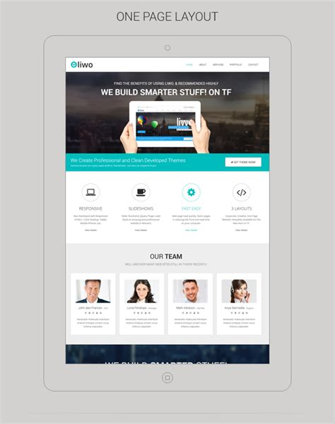 creating an e store html5 css3 single page layout liwo responsive multipurpose html5 template by