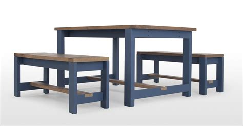 solid wood table and bench bala table and bench set solid wood and blue made com