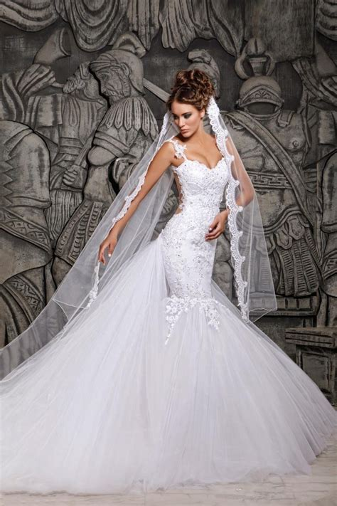 sexy backless mermaid lace wedding dresses applique