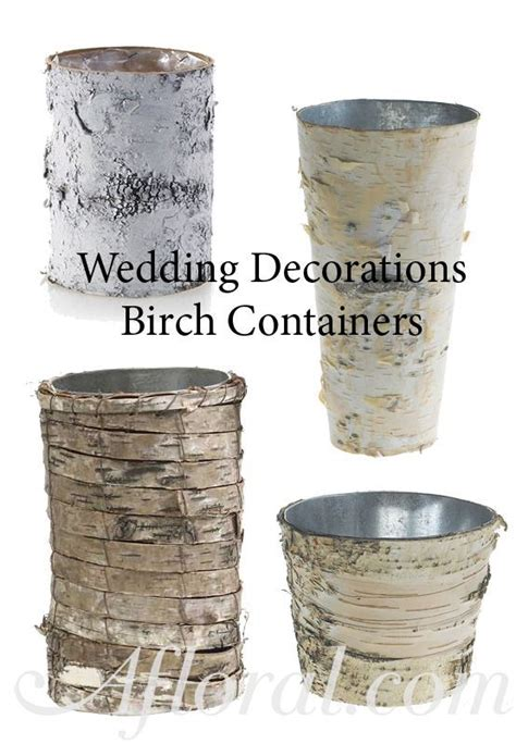 centerpiece containers cheap rustic wedding centerpiece use birch containers for your