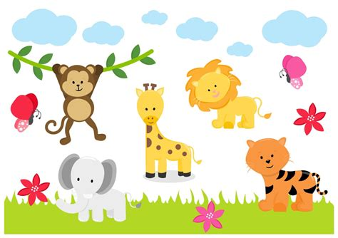 Kinderzimmer Bilder Tiere by Jungle Animals Zoo Tiger Elephant Childrens Nursery