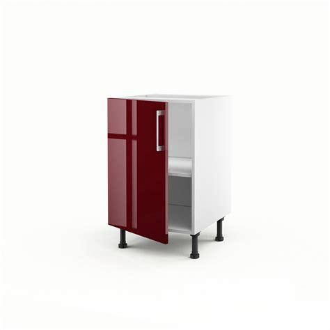 meuble cuisine 馥 50 meuble de cuisine bas 1 porte griotte h 70 x l 50 x