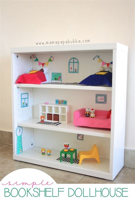 a bookshelf dollhouse for miss g papa bubba