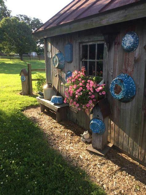 ideas  rustic shed  pinterest garden