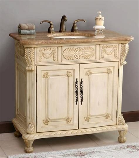 antique bathroom sink cabinets virtu usa casablanca antique ivory marfil single