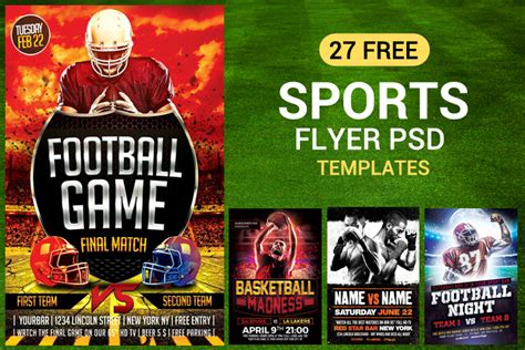 sports flyer template 27 free sports flyer psd templates for designyep