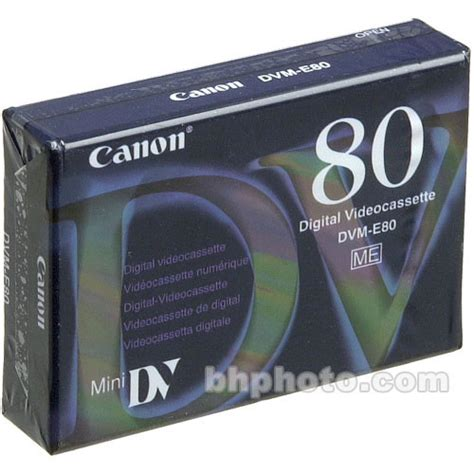 mini dv digital cassette canon dvme 80 mini dv cassette 80 minutes 4254a002 b h photo