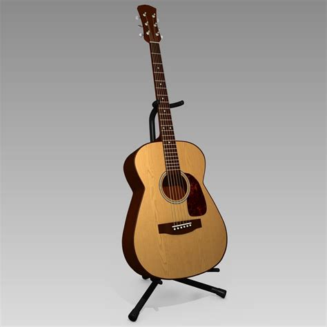 Stand Gitar Isi 3 Stand Gitar 3d model acoustic guitar stand