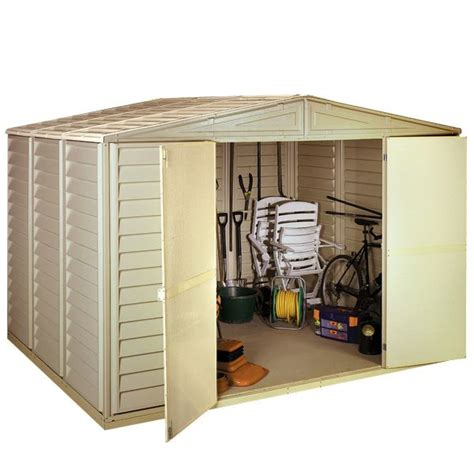 Metal Shed 10 X 10 by 10 X 10 Waltons Steel Framed Vinyl Plastic Clad Metal Shed