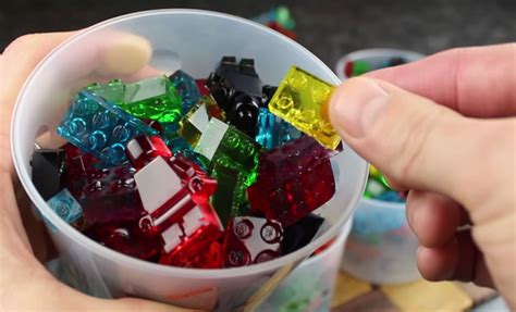 lego gummy tutorial how to make stackable snackable lego gummy blocks video