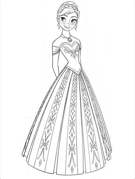 free coloring pages anna frozen anna from frozen coloring pages 35 free disney s frozen