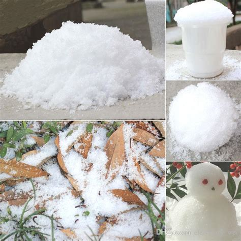 how to make a cheap snow blancket decoration instant snow magic prop diy instant artificial snow powder simulation