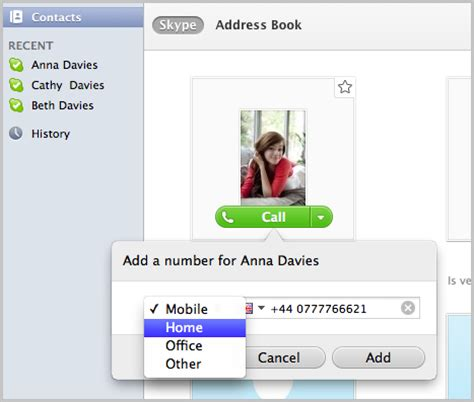 Skype Phone Number Lookup How Do I Add Phone Numbers To A Contact S Profile In Skype For Mac Os X Skype Support