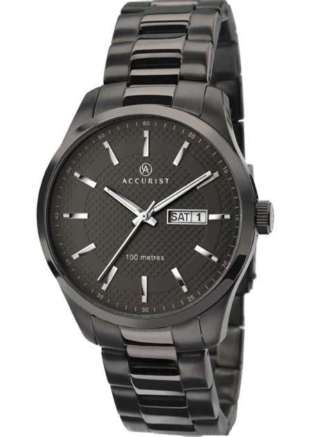accurist mens black bracelet 7058 accurist simply