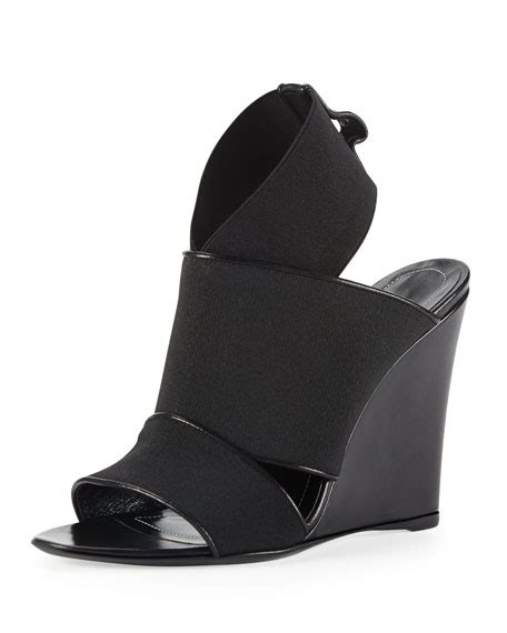 Sandal Elastis Black balenciaga elastic wedge sandal black