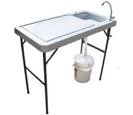 Folding Table With Sink Asg Outdoors All Purpose Outdoor Folding Table Sportsman S Warehouse