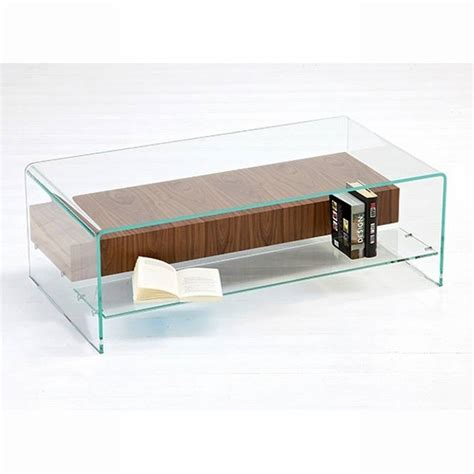 Glass Storage Coffee Table Sovet Bridge With Shelf Drawer Coffee Tables Bent Glass Curved Glass Bridge With Shelf