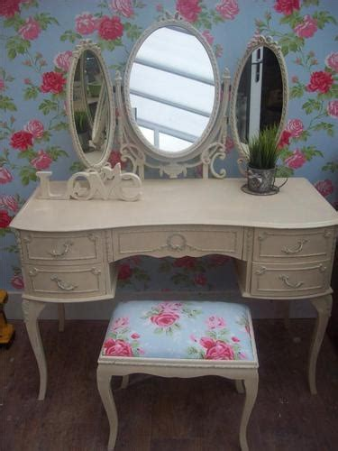 shabby chic french louis style kidney dressing table