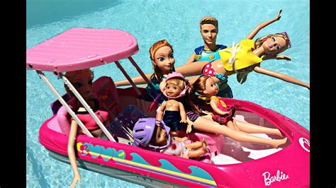 barbie on a boat barbie mike the merman saves elsa anna from the glam