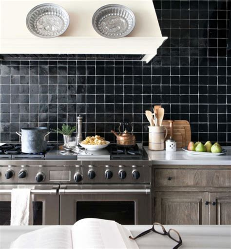 Black Kitchen Tiles Ideas Beyond Tile 25 Truly Beautiful Kitchen Backsplashes Brit Co